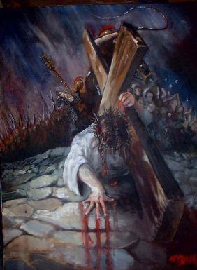 Jesuscarryingcrosspainting