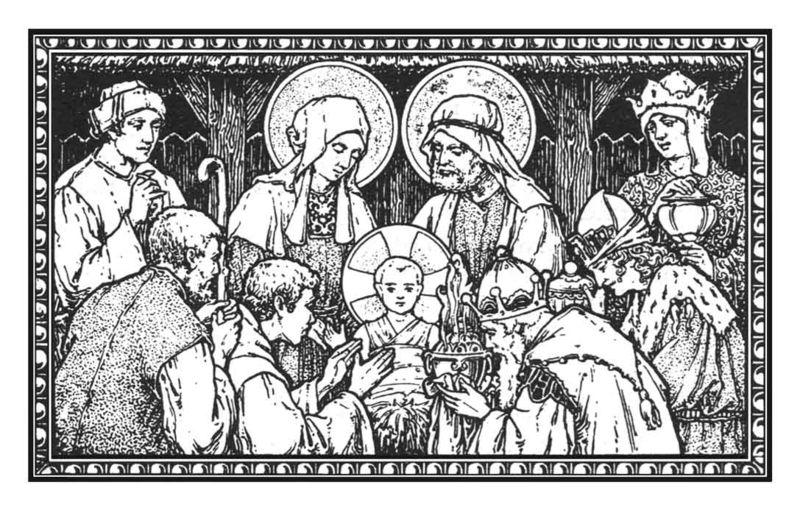 Nativity bw