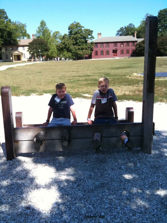 In the stocks and in the Printery