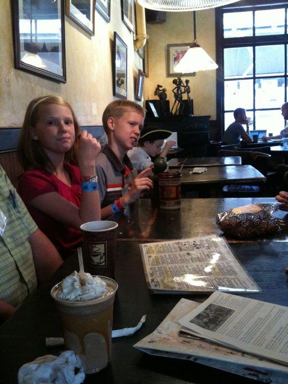 Coffeehouse snack break