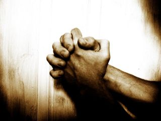 Prayer clasped hands