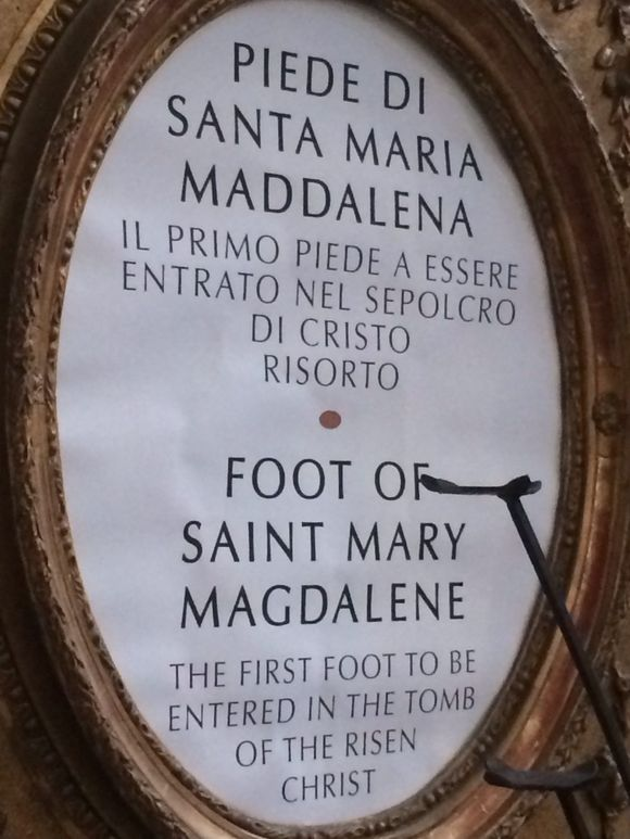 Yes, the FOOT of the Magdalen.